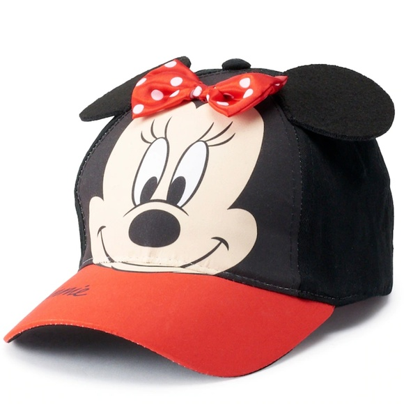 3bb76cc7fc6fe4 Disney Accessories | Minnie Mouse Cap Toddler Girls Bow | Poshmark